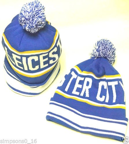 cheapest new product factory outlets Amazon.com : Leicester City Hat Bobble Hat : Sports & Outdoors