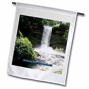 Sandy Mertens Mississippi - Minnehaha Falls, Minneapolis, MN - 12 x 18 inch Garden Flag (fl_57017_1)