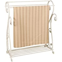 Passport Scrolled Iron Quilt Rack - White
