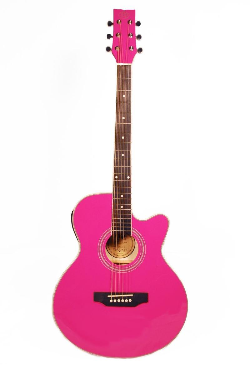 Amazon JB Player JBEA15PK Acoustic Electric Guitar Pink