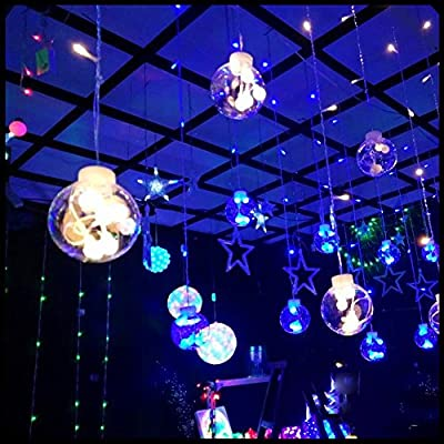 Livingly Light Fairy Decorative Light 12 String 120 Beads for Wedding Birthday Home Window EU/US Plug 220V/110V