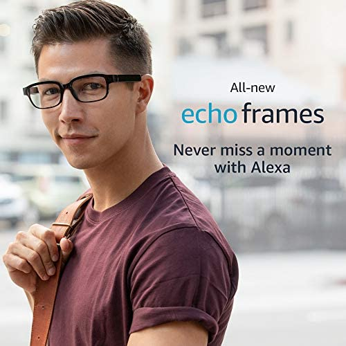 All-new Echo Frames (second Gen) | Smart glasses with open-ear audio and Alexa | Classic Black