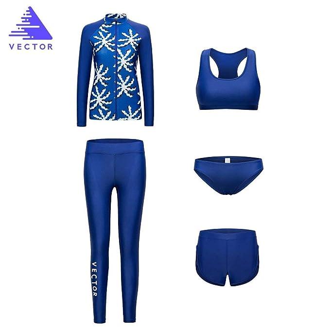 Amazon.com: VECTOR - Bañador para mujer, 5 piezas, traje de ...
