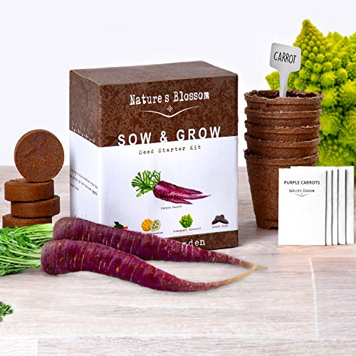 Grow 5 Unique Vegetables with Nature's Blossom Veg Growing Kit