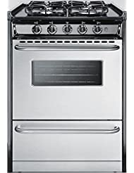 Summit TTM61027BRSW Kitchen Cooking Range, Stainless Steel