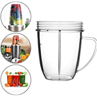High Quanlity Handle Cup 18OZ Juice Cup Mug Clear Replacement for Nutribullet 600/900w Spare Cup Premium NutriBullet Parts and Accessories,As The Picture,51-100ml