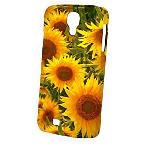 Case Fun Samsung Galaxy S4 (I9500) Case - Vogue Version - 3D Full Wrap - Sunflowers