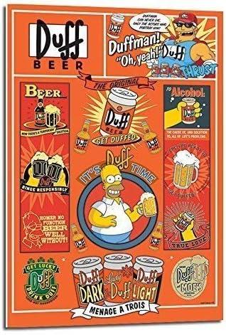 iPosters Cerveza Duff de los Simpson Póster flotando Soporte – 90 ...