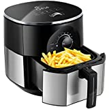 JESE Air Fryer, Hot Air Fryer with Smart Time and Temperature Control, 3.5 Qt Easy To Use Air Cooker
