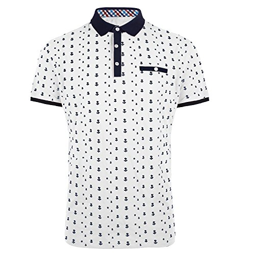 Evrimas Men's Cotton Slim Fit Printed Polo Shirts Dry Short Sleeve T-Shirts Casual Golf Shirts ()
