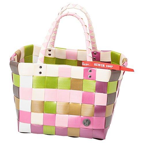 Ice Bag Mini Shopper 5008-39 weiß/rosa/hellgrün, ca. 29x22x22 cm
