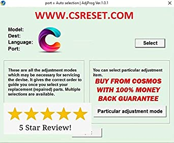 Adjustment Program Resetter Compatible With EPSON L380 L383 L385 L485 One PC