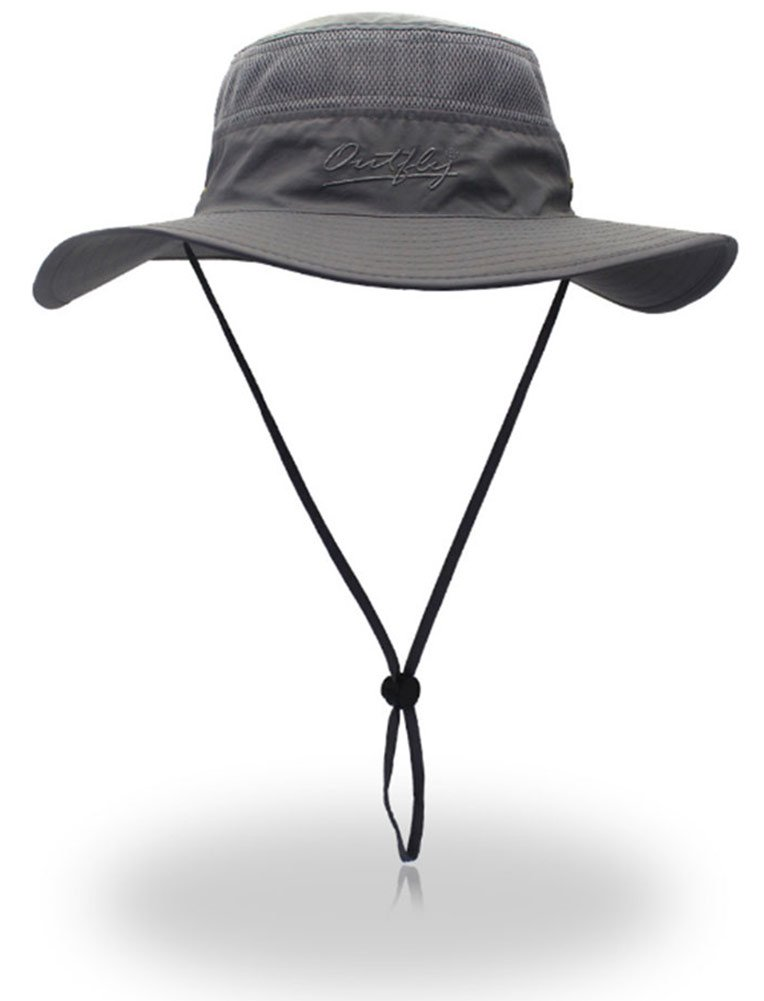 e700d2474a1 Outdoor Sun Protection Hat Wide Brim Bucket Hats UV Protection Boonie Hat  56-62cm