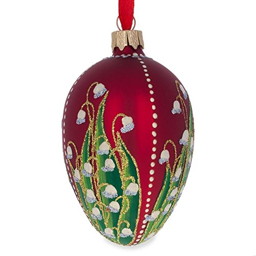bestpysanky 4 1898 lilies of the valley faberge egg glass christmas ornament