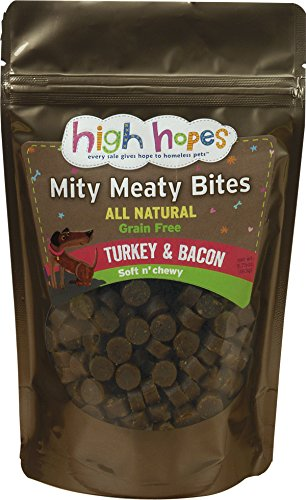 High Hopes for Pets Mity Meaty Bites Turkey & Bacon Soft & Chewy Dog ()