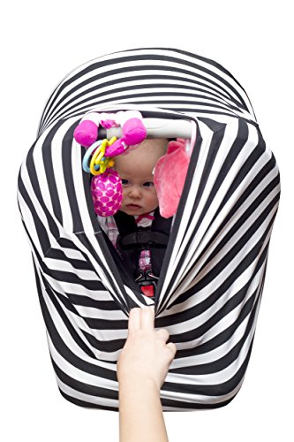 Premium 4 in 1 - Car Seat Cover, Baby Car seat Canopy,Nursing Cover ...