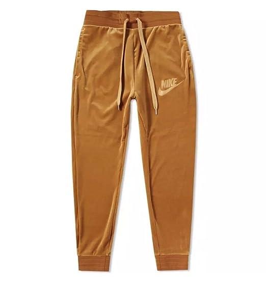 381bedafcb7 NIKE Sportswear Plush Velour Pants AH3388 722 Elemental Gold (Large ...
