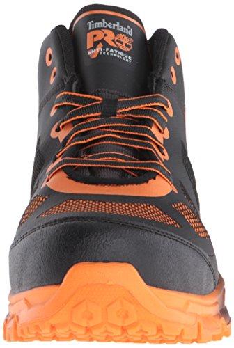 Woodland Pro Mens Velocity Lega Safety-toe Mid Industrial E Costruzione Boot Nero Sintetico / Arancione Pops