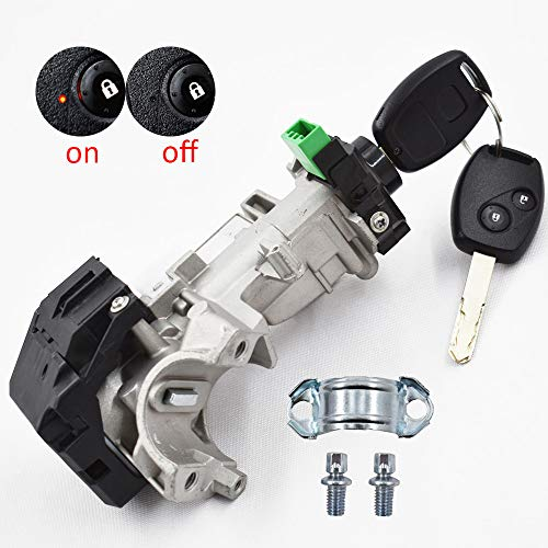 (labwork-parts Ignition Keys Switch Lock Cylinder Steering Fit for Honda Civic Auto Trans 2006 2007 2008 2009 2010 2011)