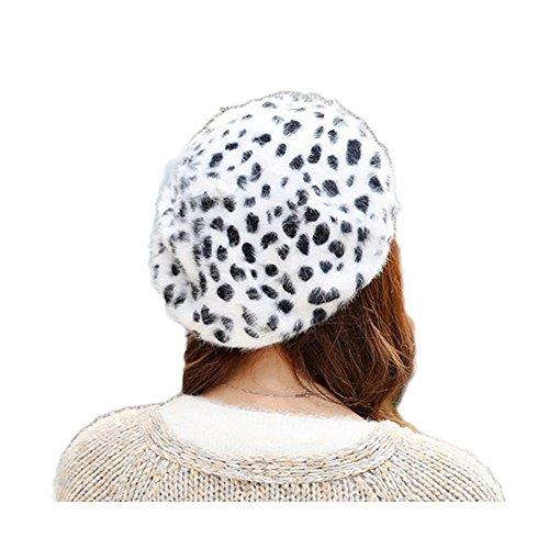 eca94831a77  해외 WeeH 여성을위한 베레모 모자 겨울 모자를 쓰다 귀여운 고양이 양모