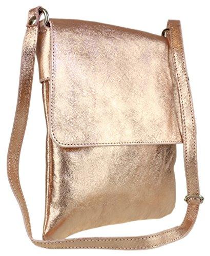 Metallic A Champagne Girly Tracolla Handbags Renata Borsa Donna 4gqqFx61w
