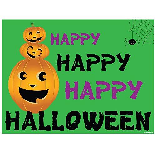 Halloween Vinyl Place Mats (4, Pumpkin