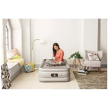 embark double high twin air mattress with builtin pump