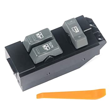 2001 Window Switch 2500 HD GMC Sierra 1999 Gray Fits Chevrolet Silverado 2002-1500 2500 2000 Housing Fits Chevy Replaces 15047637 Master Power Window Switch 3500 Driver Side Door