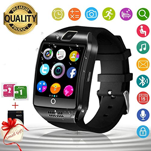 Smart Watch,Bluetooth Smartwatch for Women and Men,Android Smart Watch for Samsung Waterproof,with camera and SIM Card Slot,Touch Screen Wrist watch Compatible for Android iOS Smartphone Huawei Phone