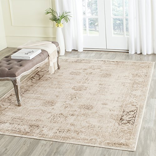 Safavieh Vintage Premium Collection VTG117-440 Transitional Oriental Stone Distressed Silky Viscose Area Rug (5'3
