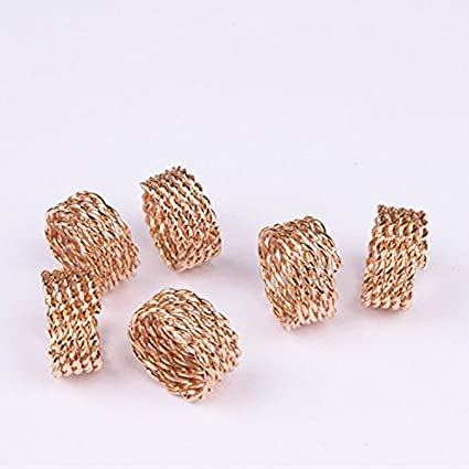 Amazon Com Baba 20 Pieces Rose Gold Adjustable Plated Braiding Diy Accessory Dread Lock Hair Beads Hair Braid Pins Rings Cuff Clips Tibetan Jewelry Decor Everything Else