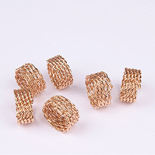 Baba 20 pieces Rose Gold adjustable plated Braiding DIY Accessory Dread lock Hair Beads Hair Braid Pins Rings Cuff Clips Tibetan Jewelry Decor