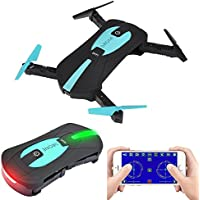 XFUNY Wifi FPV Foldable Drone with 2.0MP HD Camera Quadcopter Arm Altitude Hold Headless G-sensor Mini RC Selfie Pocket Drone