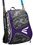 EASTON E110BP Bat & Equipment Backpack Bag | Baseball Softball | 2019 | Purple | 2 Bat Sleeves | Smart Gear Storage | Vented Shoe Pocket | Rubberized Zipper Pulls | Fence Hook