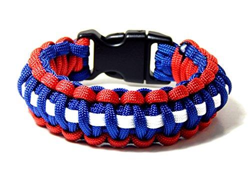 Paracord Survival Bracelet Red White Blue 5/8 Plastic Buckle 8 inch …