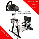 Deluxe Racing Steering Wheelstand with RGS and GTS options for Thrustmaster T300RS(PS4), TX Leather, T150, TX458(Xbox One) Original Wheel Stand Pro Stand V2. Wheel and Pedals Not included