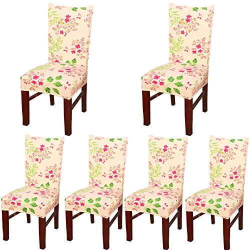 Zebra Accent Chair - Deisy Dee Stretch Chair Cover Removable Washable for Hotel Dining Room Ceremony Chair Slipcovers Pack of 6