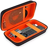 BOVKE Hard PU Shockproof Carrying Case for Amazon Fire TV Stick, Black