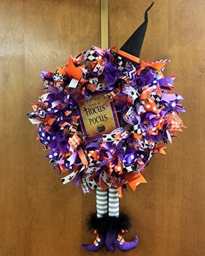 Halloween Hocus Pocus Wreath. Halloween Door Decoration with