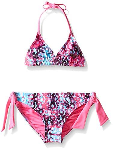 Roxy Big Girls Altered Destination Tiki Tri Set, Sugar Plum, - Swimwear Destination