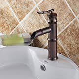 Sunhai Continental black antique full copper wash basin hot and cold taps audience