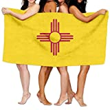 Beach Towel Flag Of New Mexico 80'' X 130'' Soft Lightweight Absorbent For Bath Swimming Pool Yoga Pilates Picnic Blanket Towels