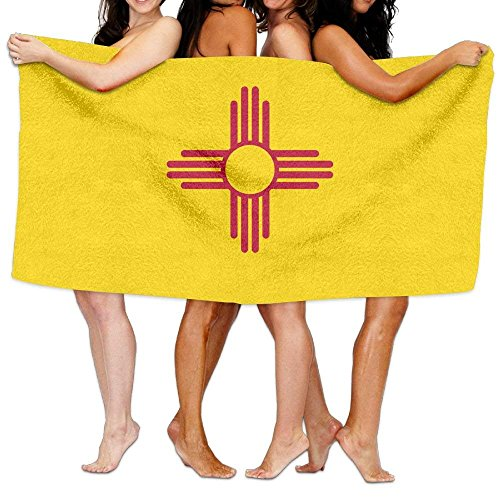 """Beach Towel Flag Of New Mexico 80"""" X 130"""" Soft Lightweight Absorbent For Bath Swimming Pool Yoga Pilates Picnic Blanket Towels"""