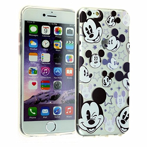 iPhone 6, 6S Clear Case, DURARMOR® FlexArmor [Lifetime Warranty] Mickey Mouse Flexible Bumper ScratchSafe TPU Ultra Thin Transparent Shock-Absorption Protector Cover for 4.7 inches iPhone 6 6s