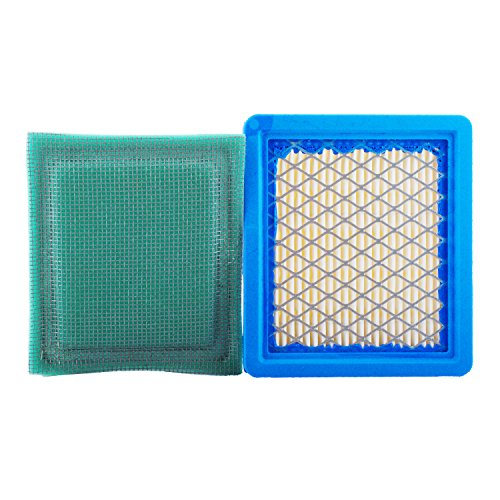 Poweka 36046 Air Filter with 36634 Pre Filter Fits for Tecumseh 740061 Oh95 Ohh50 Ohh55 Ohh60 Ohh65 Oh195 Vlv50 Vlv55 Vlv60 Vlv66 Vlv126 Replace Stens ()