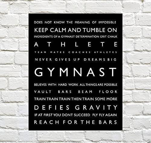 Gymnastics Print - Personalized Gymnast Typography Print - Gymnast Poster - Gymnastics Decor