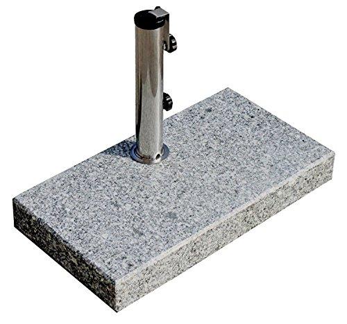 ProKIRA® Sonnenschirmständer / 25 kg/Schirme bis Ø300cm / Granit-Balkonschirmständer/eckig