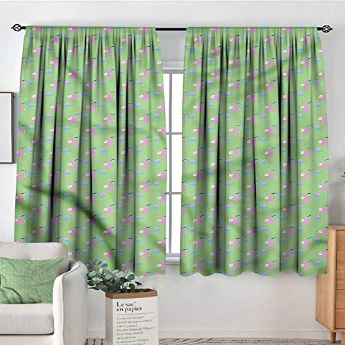 RenteriaDecor Baby,Indoor Curtain Birth Celebration Birds 52