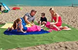 Sand free beach towel Sand & Dirt free Camping mat Camping world essentials equipment (Green , 6 ft x 6 ft)