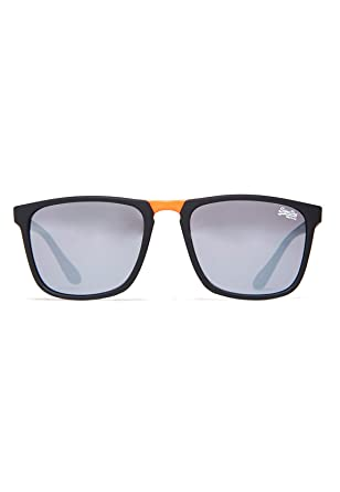 Superdry Herren Sonnenbrille Solent, Mehrfarbig (Matte Black/Amber Solid Smoke), 50